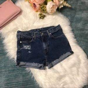 Vintage Levi's Distressed Cutoff Blue Jean Shorts